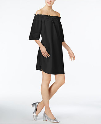 RACHEL Rachel Roy Smocked Off-The-Shoulder Dress, Only at Macy's $109 thestylecure.com