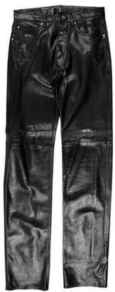 Calvin Klein Flat Front Leather Pants w/ Tags