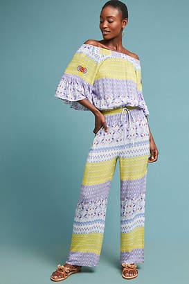 Raga Tropical Off-The-Shoulder Jumpsuit