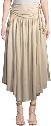 philosophy Tassel-Belt Ruffled Maxi Skirt