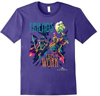 Marvel Thor Ragnarok Working Friends Neon Blast T-Shirt