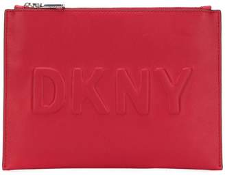 DKNY embossed logo pouch