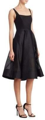 Halston Squareneck A-Line Dress