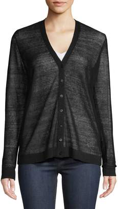 Eileen Fisher Button-Front Cardigan