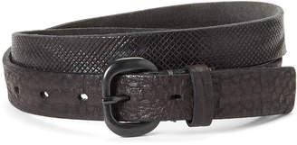 Transit Par Such Micro Pattern Leather Belt