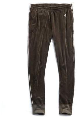 Todd Snyder Piped Velour Track Pant in Thyme