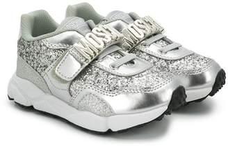 Moschino Kids glitter sneakers