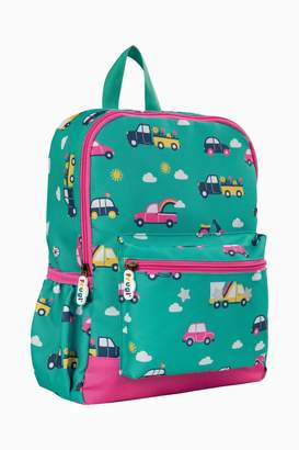 Frugi Girls Car Print Rucksack - Green