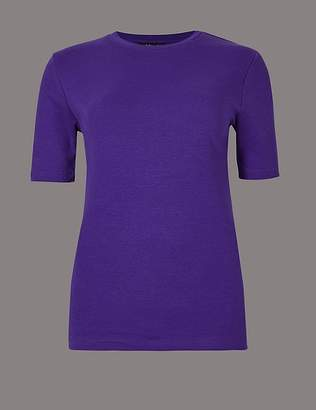 Marks and Spencer Pure Organic Cotton Round Neck T-Shirt