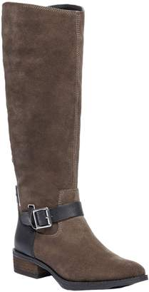 Sole Society Buckled Tall Leather Boots - Franzie