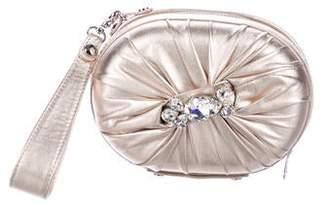 Giuseppe Zanotti Crystal-Embellished Satin Clutch