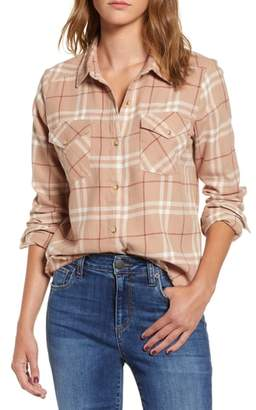 RVCA In a Haze Plaid Cotton Shirt