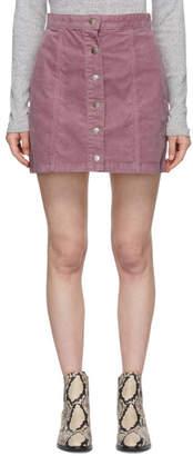 Rag & Bone Pink Corduroy Rosie Miniskirt