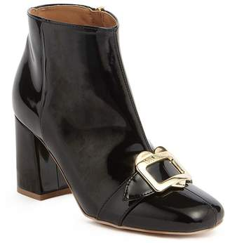 Love Moschino Patent Buckle Ankle Boot