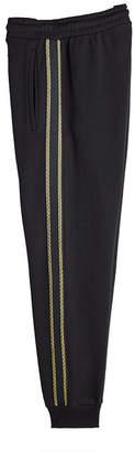 Palm Angels Tuxedo Striped Cotton Sweatpants
