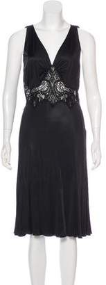 Versace Lace-Trimmed Midi Dress