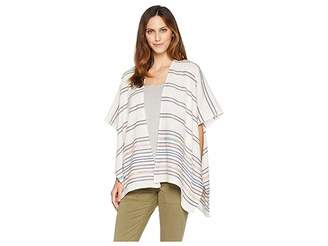 Collection XIIX Blanket Stripe Fringed Topper Women's Clothing