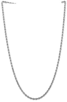 Generic 14k White Gold 4mm D/C Rope Chain
