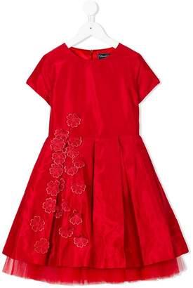 Oscar de la Renta Kids Guipure flowers party dress