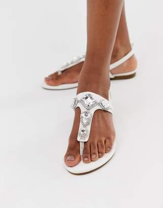 1ff3b06bb Silvia Rossini Pia embellished flat sandal