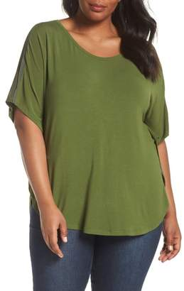 Sejour Mesh Inset Sleeve Tee