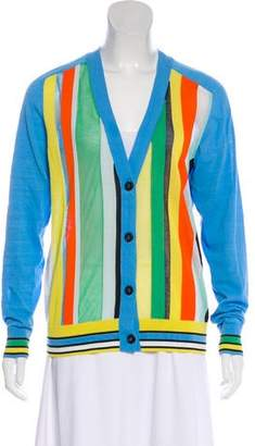 Diane von Furstenberg Stripe Knit Cardigan