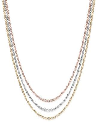 Bloomingdale's Diamond Graduated Tennis Necklace in 14K Gold, 8.45 ct. t.w. - 100% Exclusive
