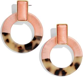 BaubleBar Two Tone Circle Drop Earrings