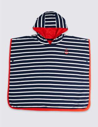 Marks and Spencer Pure Cotton Striped Ponchos (3 Months - 7 Years)