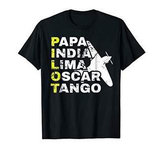 Airplane Pilot T-Shirt Plane Flying Aircraft Shirt Men Women