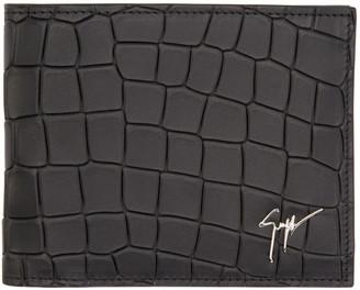 Giuseppe Zanotti Black Croc-Embossed Wallet $360 thestylecure.com