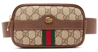Gucci Ophidia Gg Supreme Iphone Belt Bag - Womens - Grey Multi
