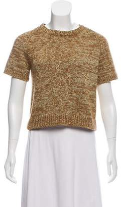 Marc by Marc Jacobs Cropped Metallic Sweater