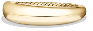 David Yurman 17mm Pure Form Bracelet in 18K Yellow Gold, Size S