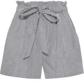 Milly Kori Striped Cotton-poplin Shorts