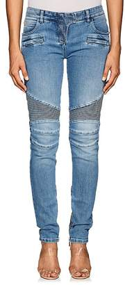 Balmain Women's Classic Biker Slim Jeans