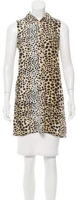 Current/Elliott Silk Leopard Print Dress