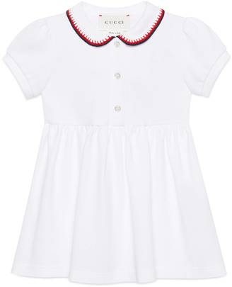 Baby polo dress with crochet trim $295 thestylecure.com