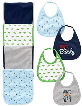 Carter's Simple Joys by Baby Boys' 8-Pack Burp Cloth and Bib Set