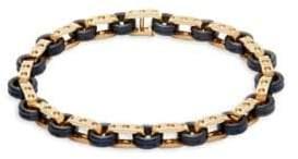 Roberto Coin 18K Yellow Gold & Titanium Bangle Bracelet