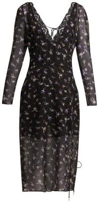Altuzarra Rosmarino Silk Georgette Midi Dress - Womens - Black