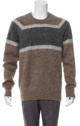 Marc Jacobs Mohair & Wool-Blend Striped Crew Neck Sweater