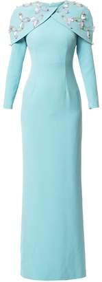 DAY Birger et Mikkelsen Safiyaa London embellished cape gown