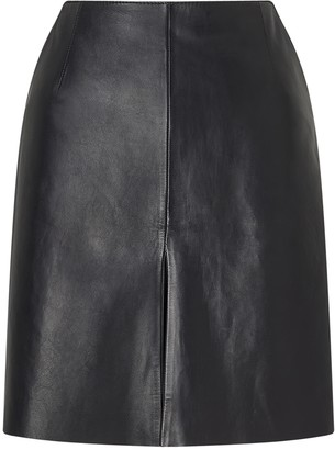 bf1fcd95dcd Zip Front Leather Skirt - ShopStyle UK