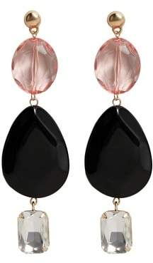 Violeta BY MANGO Crystal beads earrings