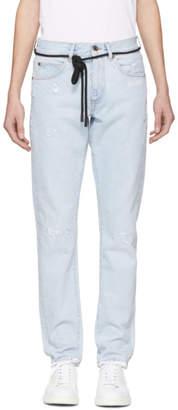 Off-White Blue Temperature Slim Jeans