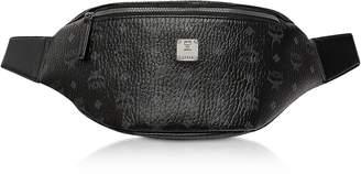 MCM Black Visetos Medium Stark Belt Bag