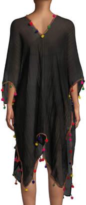 Bindya Pompom Crepe Kimono
