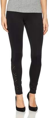 Hue Women's Laser Cut Ponte Leggings Sockshosiery