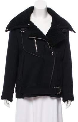 IRO Notting Shearling-Trimmed Jacket